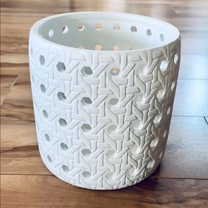Threshold Medium Bamboo Pattern Candle Holder.